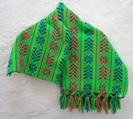 Multi Mexican Women's Rebozo Shawl Scarf With Beautiful Flowers Pattern