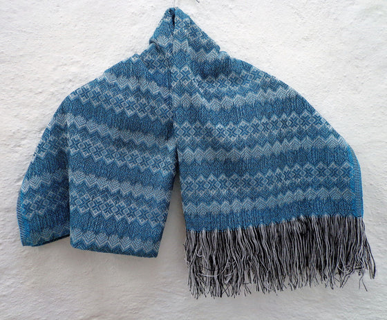 Mexican Women's Accessories Rebozo Shawl Wrap Runner with Geometric Pattern