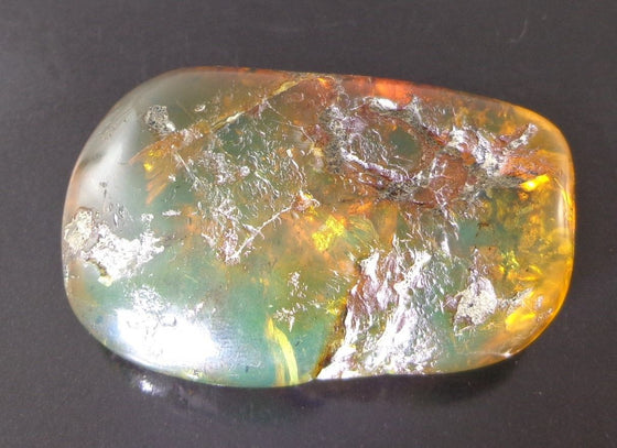 Mexican Green Amber Stone Fossil Full Polished From Chiapas 30.2g