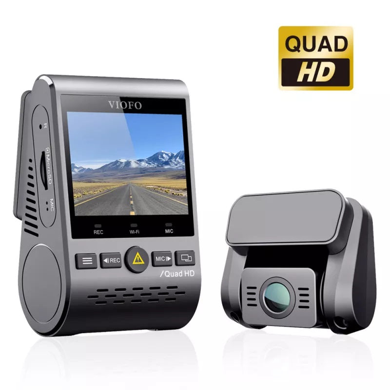 Viofo A129 Plus Duo Dual Channel Dash Cam with Front 2K 1440P + Rear 1080P + WiFi + GPS + 16GB Built-In eMMC Memory