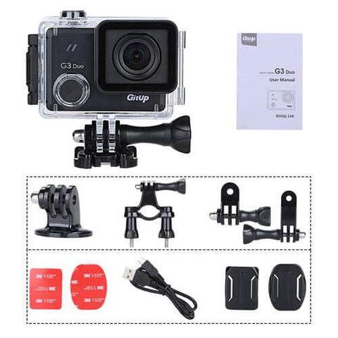GitUp G3 Duo Action Camera With WiFi - 90 Degree Lens Model - Used/Open Box