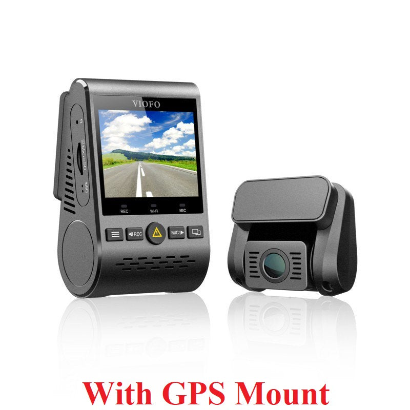 Viofo A129 DUO Dual Channel 1080p Dash Camera with Dual Band WiFi + GPS Mount