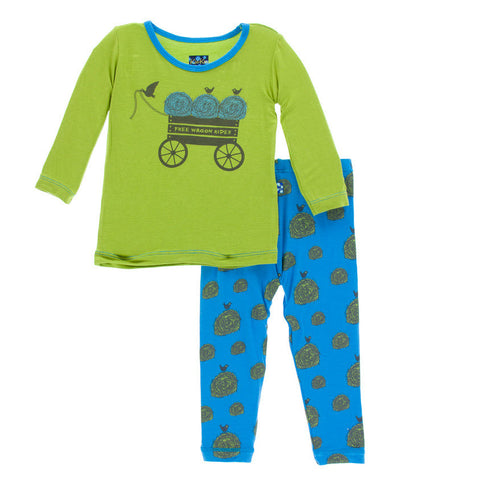 Kickee Pants River Hay Bales Long Sleeve Pajama Set