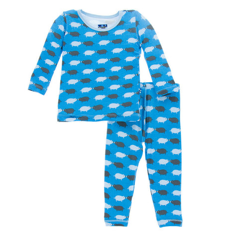 Kickee Pants River Pig Long Sleeve Pajama Set