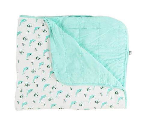 Kyte Baby - Quilted Toddler Blanket in Aqua/Reef 1.0
