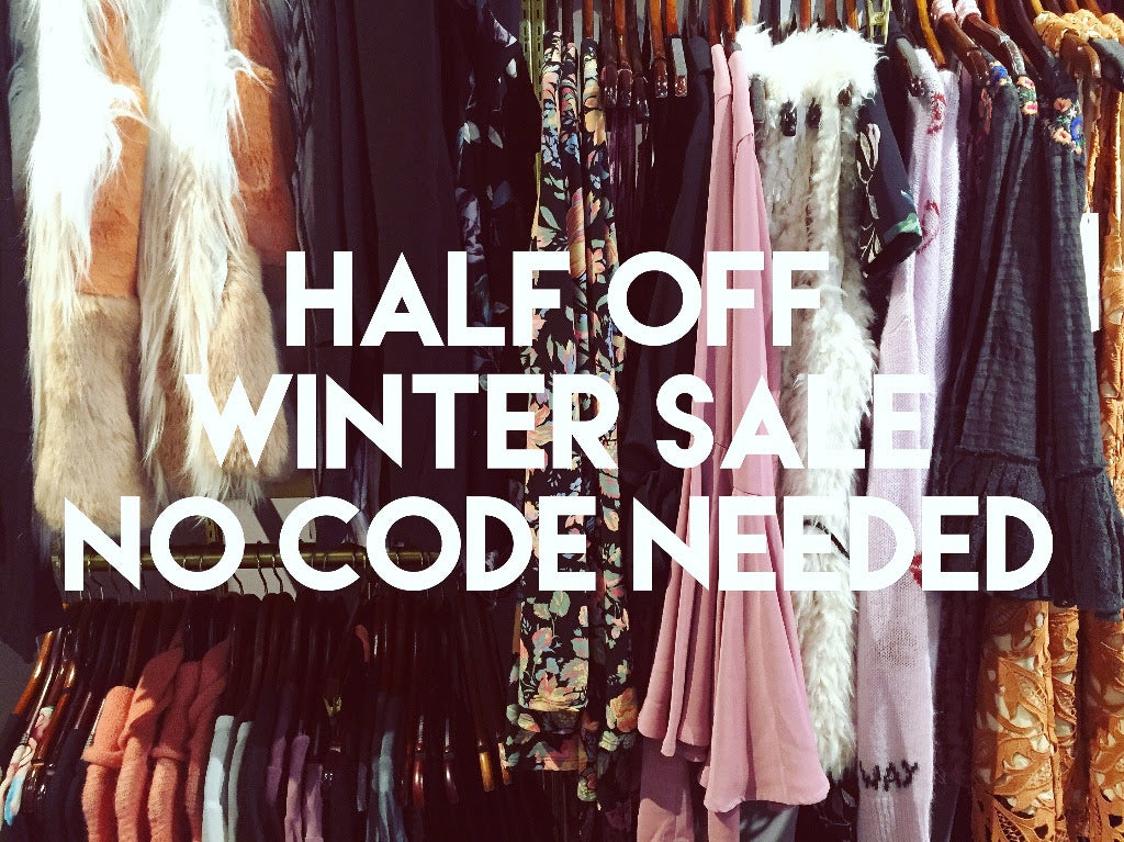 Half off Winter Items Sale