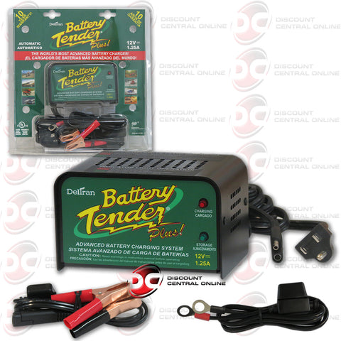 DELTRAN BATTERY TENDER PLUS 12 VOLT 1.25 AMP ADVANCED BATTERY CHARGING SYSTEM (021-0128)