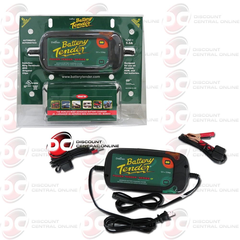 BATTERY TENDER 12 VOLTS 5 AMP HIGH EFFICIENCY BATTERY CHARGER