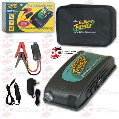 DELTRAN BATTERY TENDER 12V JUMP STARTER WITH USB CHARGER (030-0001-WH)