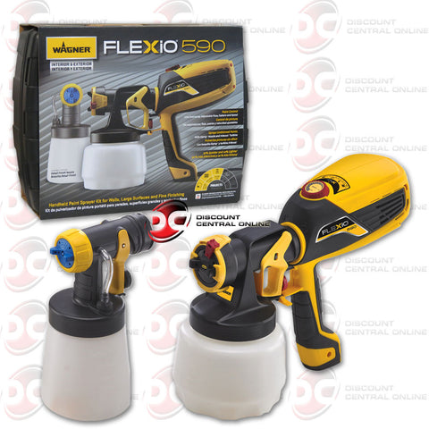 Wagner Flexio 590 Indoor/Outdoor Airless Handheld Paint Sprayer, 8 GPH ( 0529010)
