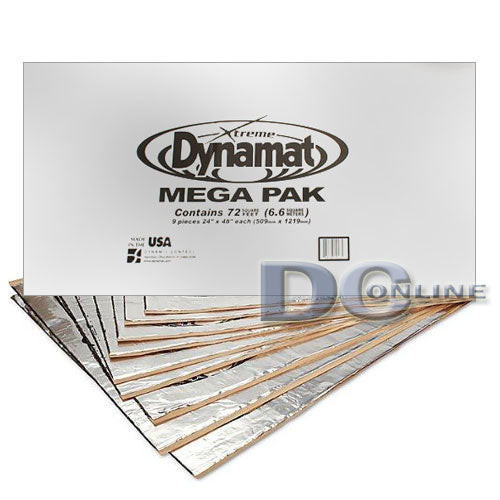 Dynamat 10465 car sound damper mega pak 72 square feet