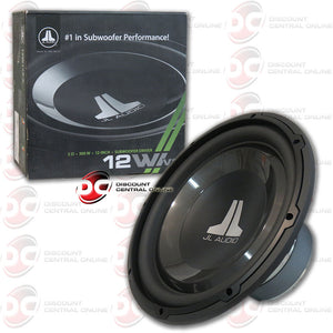 "JL Audio 12W1v3-2 300W RMS 12"" W1v3 Series Single 2-Ohm Subwoofer"