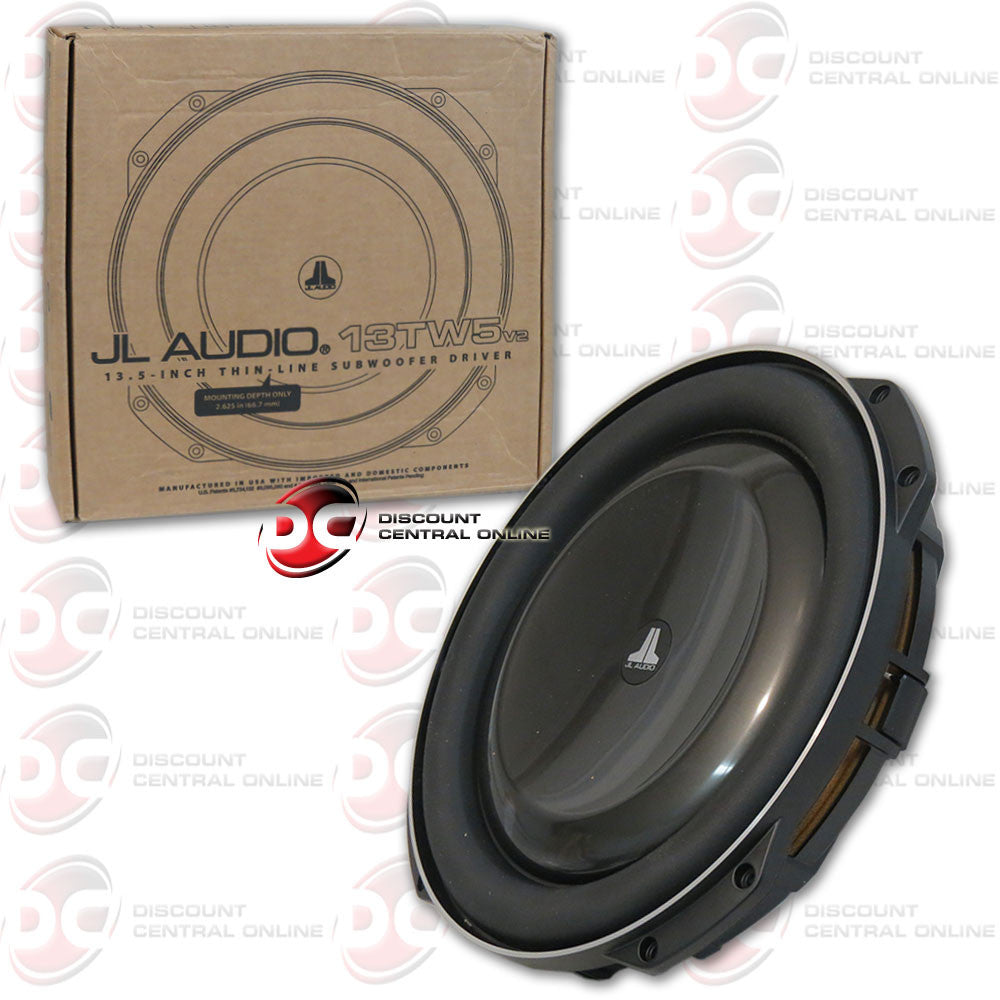 "JL Audio 13TW5v2-4 600W 13.5"" TW5v2 (Thin-Line) Series Single 4-ohm Subwoofer"