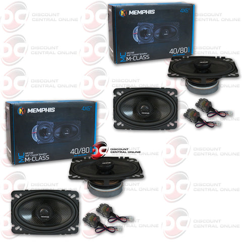 "4 x MEMPHIS AUDIO 15-MCX46  4""X6"" 2-WAY CAR SPEAKERS (MCLASS SERIES)"