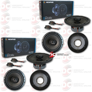 "4 x MEMPHIS AUDIO 15-MCX6 6-1/2"" 2-WAY CAR SPEAKERS ( MCLASS SERIES)"