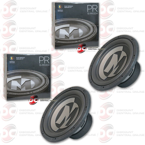 "2 x Memphis 15-PR12D4 12"" Dual 4 ohm Power Reference Series Subwoofer"