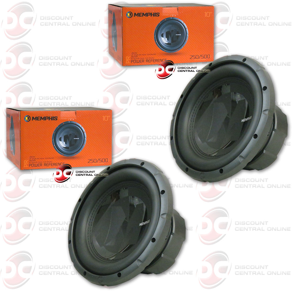 "2X MEMPHIS 15-PRX104 10"" SINGLE COIL CAR AUDIO SUBWOOFER (POWER REFERENCE SERIES)"