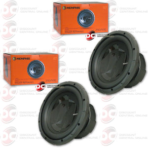 "2X MEMPHIS 15-PRX1044 10"" DUAL COIL CAR AUDIO SUBWOOFER (POWER REFERENCE SERIES)"