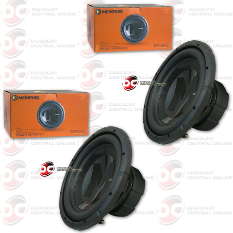 "2X MEMPHIS 15-PRX124 12"" SINGLE COIL CAR AUDIO SUBWOOFER (POWER REFERENCE SERIES)"
