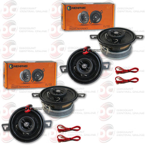 "4 x Memphis Audio 15-PRX32 Power Reference Series 3-1/2"" 2-way car speakers"