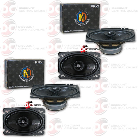 "4 x Memphis 15-PRX462 4""x6"" Car Audio Speakers (Power Reference Series)"