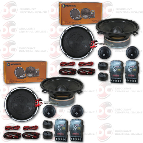"4 x Memphis 15-PRX5C 5-1/4"" Car Audio Component System (Power Reference Series)"