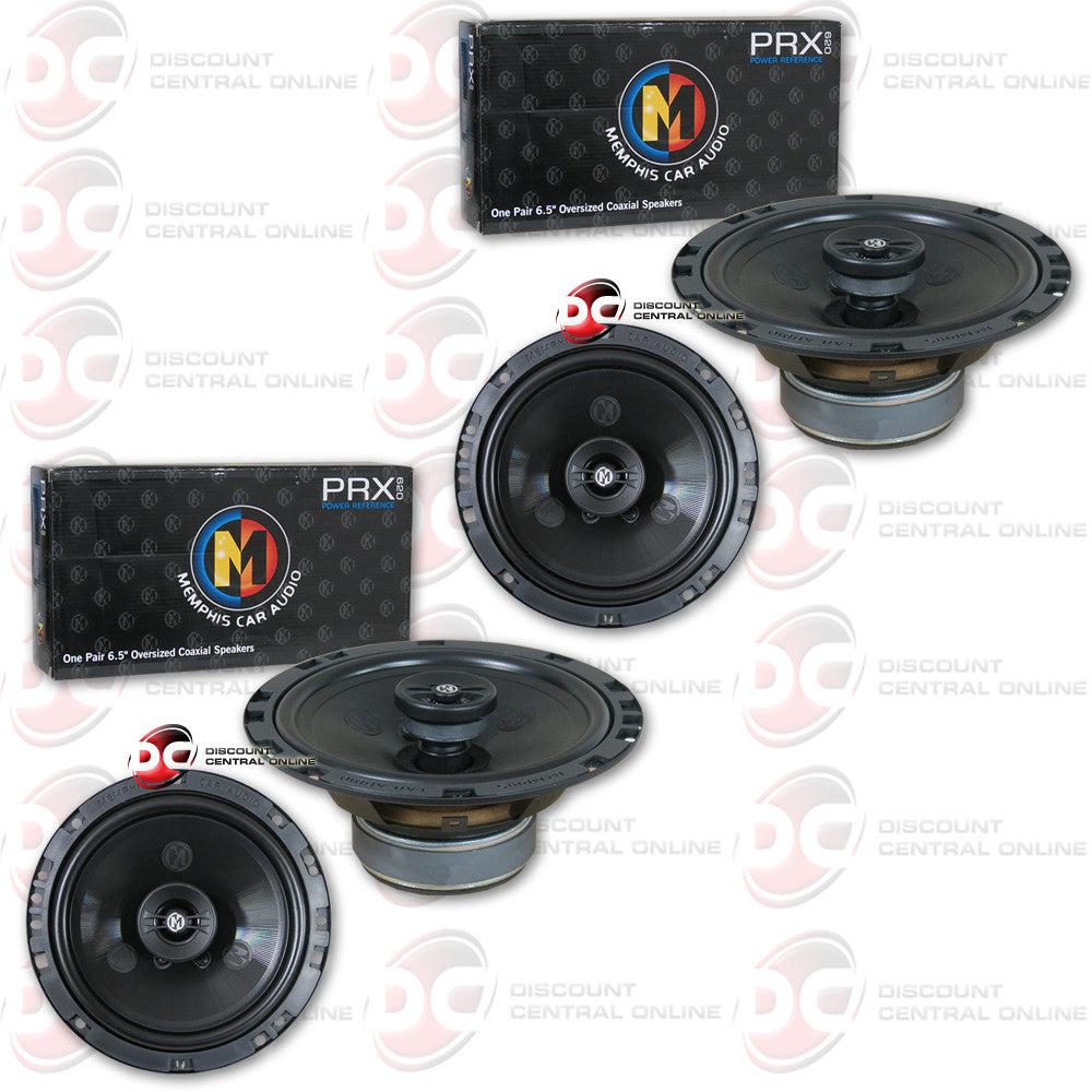 "4 x Memphis 15-PRX620 6-3/4"" Car Audio (Power Reference Series)"