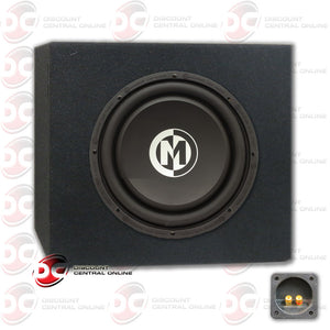 "MEMPHIS 15-SA10D4 10"" 250/500 WATT DUAL COIL CAR AUDIO SUBWOOFER AND SUBWOOFER HOUSING BOX FOR 10"" SUBWOOFER"