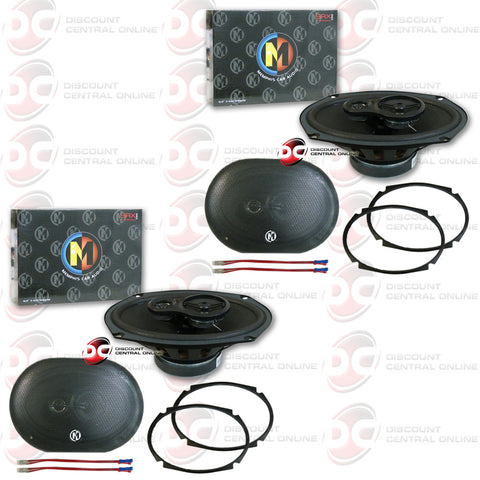 "4 x Memphis 15-SRX693 6""x9"" Car Audio Speakers (Street Reference Series)"
