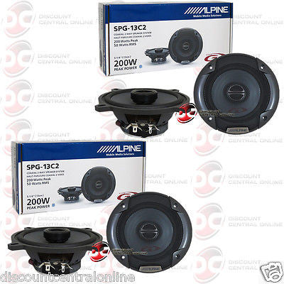 "4 x  Alpine SPG-13C2 5.25"" Car Audio Speakers"
