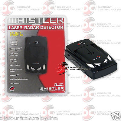 WHISTLER XTR-195 CORDLESS BATTERY POWERED RADAR LASER DETECTOR