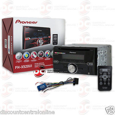 PIONEER 2-DIN FH-X520UI CAR STEREO CD PLAYER PANDORA CONTROL & REMOTE