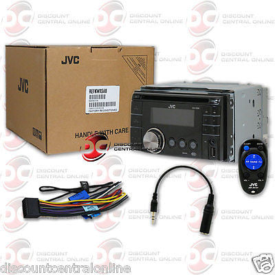 REFURBISHED JVC KW-XS68 CAR DOUBLE DIN CD MP3 USB PLAYER RECEIVER WITH AUX-IN & REMOTE