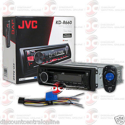 JVC KD-R660 SINGLE DIN CAR AUDIO STEREO CD MP3 RECEIVER WITH AUX & USB INPUT