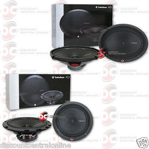 "ROCKFORD FOSGATE R1675X2 6.75"" 2-WAY SPEAKERS + R169X2 6""x9"" 2-WAY CAR SPEAKERS"