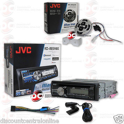 JVC KD-R85MBS CAR BOAT CD MP3 MARINE STEREO W/ BLUETOOTH &  WIRED MARINE REMOTE