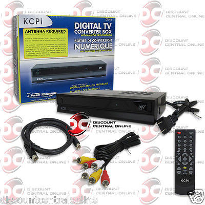 KCPI DT504 DIGITAL TO ANALOG TV CONVERTER BOX DIGITAL TV TUNER WITH REMOTE