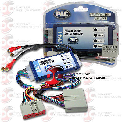 PAC AOEM-FRD24 AMPLIFIER INTEGRATION INTERFACE IN SELECT 2004 UP FORD VEHICLES