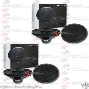 "Rockford Fosgate R169x3 6x9"" 3-way Car Coaxial Speakers (2 Pairs)"
