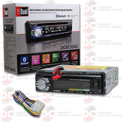 DUAL DCBT304U 1-DIN CAR STEREO MP3 CD PLAYER WITH FRONT USB AUX-IN & BLUETOOTH