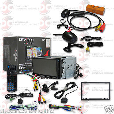 "KENWOOD DNN992 2DIN 6.95"" GPS DVD PLAYER BLUETOOTH WIFI FREE 170° REAR CAMERA"