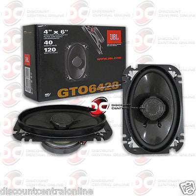 "JBL GTO6428 4x6"" CAR AUDIO 2-WAY COAXIAL SPEAKERS (PAIR) 4 x 6"""