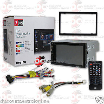 "BRAND NEW DUAL 2DIN 6.2"" TOUCHSCREEN LCD STEREO W/ BLUETOOTH USB AUX-IN + REMOTE"