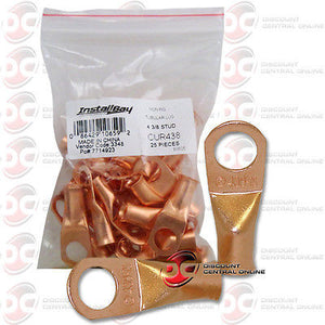"INSTALL BAY CUR438 4 GAUGE 3/8"" COPPER RING TERMINALS CUR438 25 PCS COUNT"