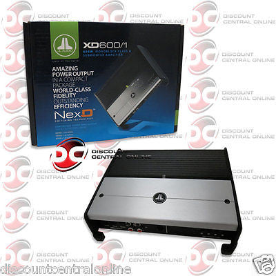 JL AUDIO XD600/1 CAR AUDIO 1 CHANNEL MONO BLOCK CLASS D AMP AMPLIFIER 600W RMS