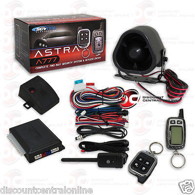 BRAND NEW SCYTEK CAR ALARM SYSTEM WITH KEYLESS ENTRY & LCD 2-WAY REMOTE CONTROL