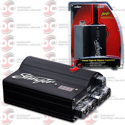STINGER SPC505 CAR AUDIO 5 FARAD PRO DIGITAL HYBRID CAPACITOR