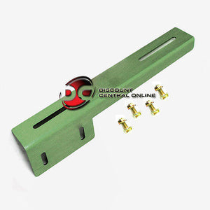UNIVERSAL LICENSE PLATE RELOCATOR HOLDER MOUNT KIT ( ARMY GREEN FRAME PLATE)