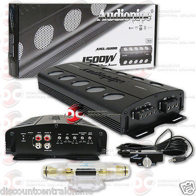 AUDIOPIPE APCL-15001D 1-CHANNEL MONO BLOCK CAR AUDIO AMP AMPLIFIER 1500W RMS