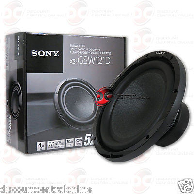 "BRAND NEW SONY 12-INCH 12"" CAR AUDIO DUAL 4-OHM SUB WOOFER 2000W MAX"